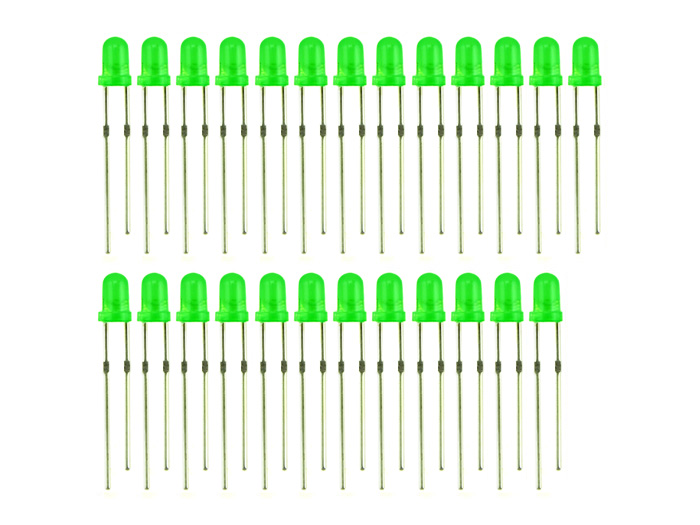 3mm LED Green - 25 PCs